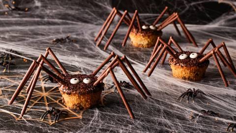 Halloween-Spinnen-Muffins