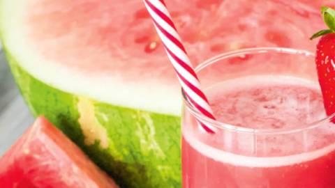 Apfel-Melonen-Sommerdrink