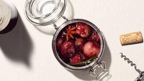 Rotwein Schalotten