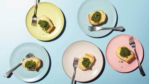 Kartoffel Raclette Bruschetta