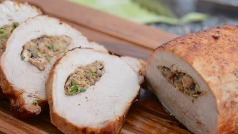 Gefüllter Schweinsnierbraten vom Grill