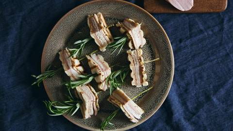 Lyoner-Käse-Sandwich Häppchen