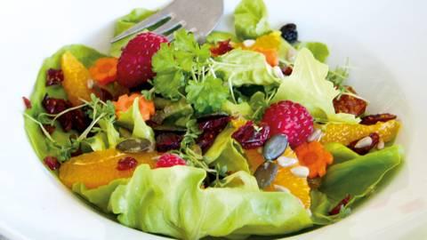 Veganer Sommersalat mit Zitronendressing
