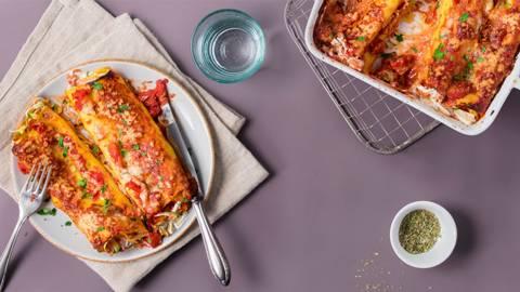 Cannelloni al forno mit Zucchettifüllung