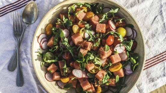 Melonen-Melissen-Salat