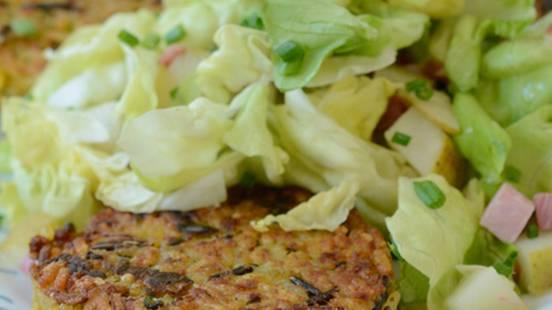 Reistätschli mit Kopfsalat