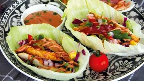 Poulet-Salat-Wrap