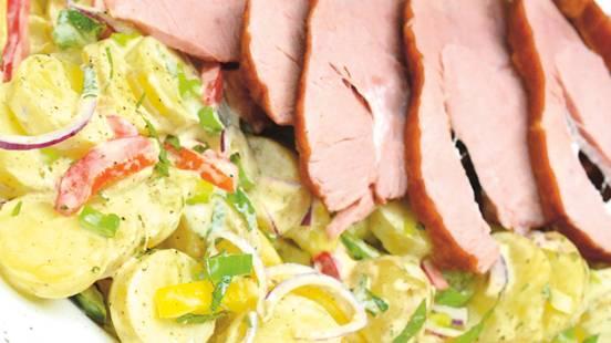 Rollschinkli mit Kartoffelsalat