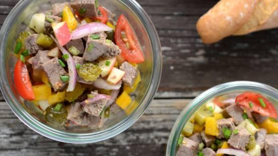 Siedfleisch-Salat