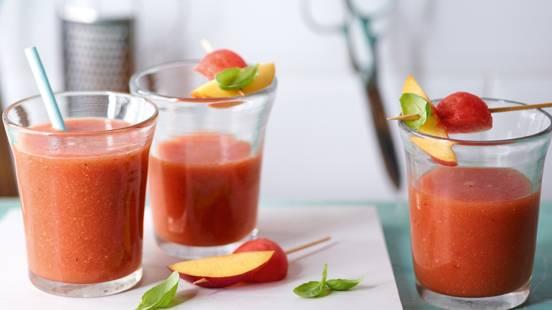 Melonen-Basilikum-Smoothie mit Rooibostee
