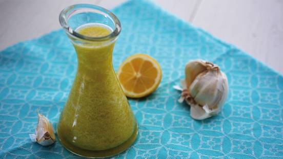 Knoblauch Zitronen Öl