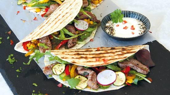 Tortillas mit Bio-Weiderind