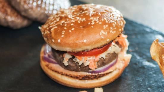 Cole-Slaw-Hamburger vom Rind