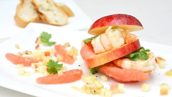 Apfel-Crevetten-Burger