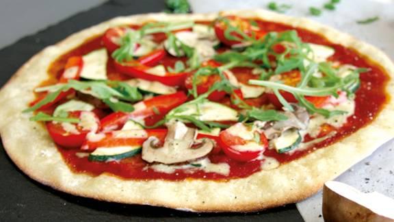 Vegane Pizza con Funghi