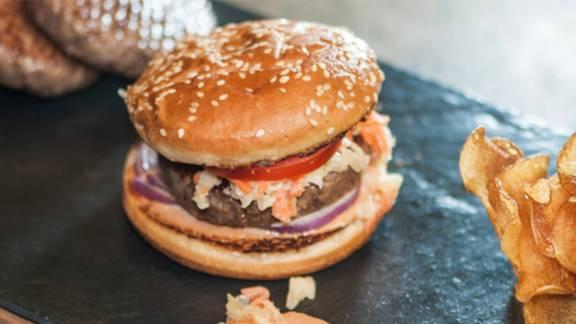 Hamburger vom Rind