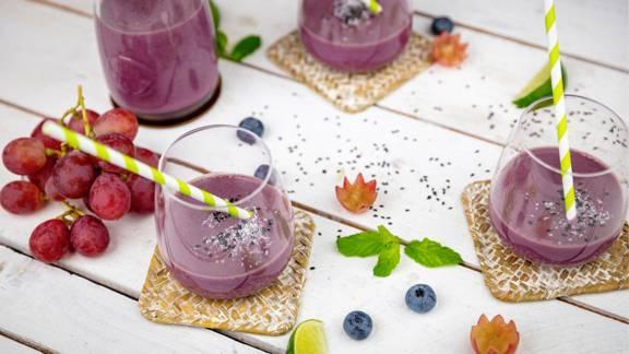 Heidelbeer-Trauben-Smoothie