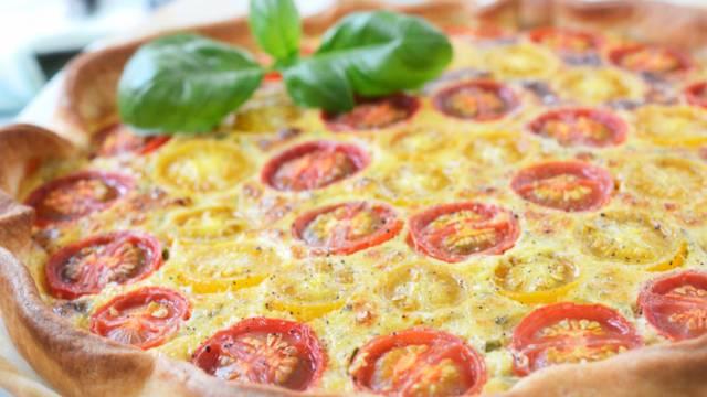 Cherrytomaten-Käse-Quiche
