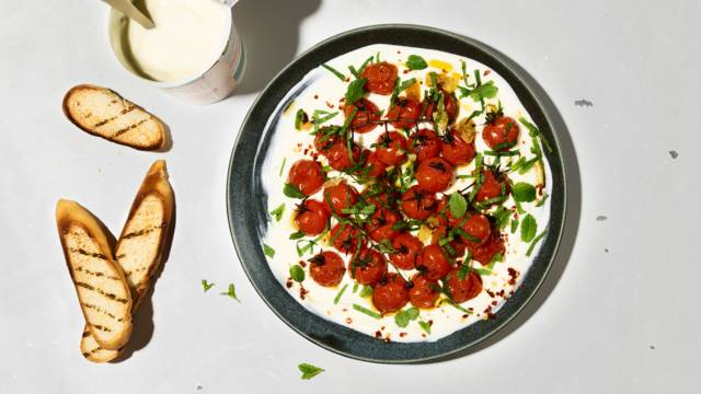 Geröstete Tomaten mit Jogurt