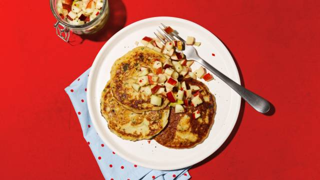 Kartoffel-Pancakes mit Apfel-Salsa