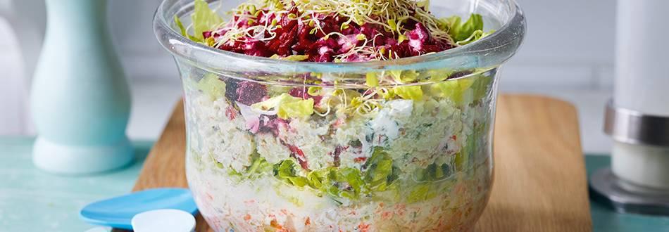Feiner Schnippelsalat mit Fetadressing