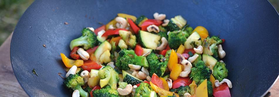 Gemüse-Wok vom Grill