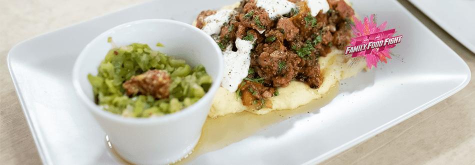 Family Food Fight: Wurstgröstel mit Kartoffelstock und Lauchgemüse