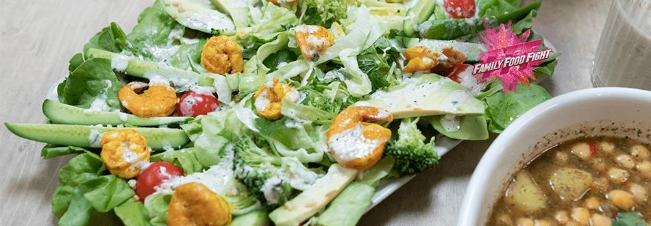 Family Food Fight: Gemischter Salat mit Crevetten