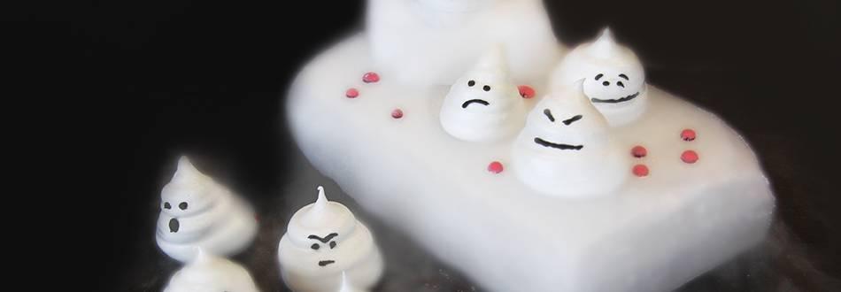 Süsse Meringue-Geister