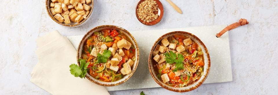 Zucchini-Tofu-Bowl
