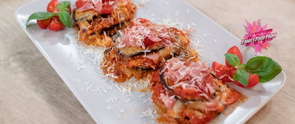 Family Food Fight: Parmigiana-Türmchen
